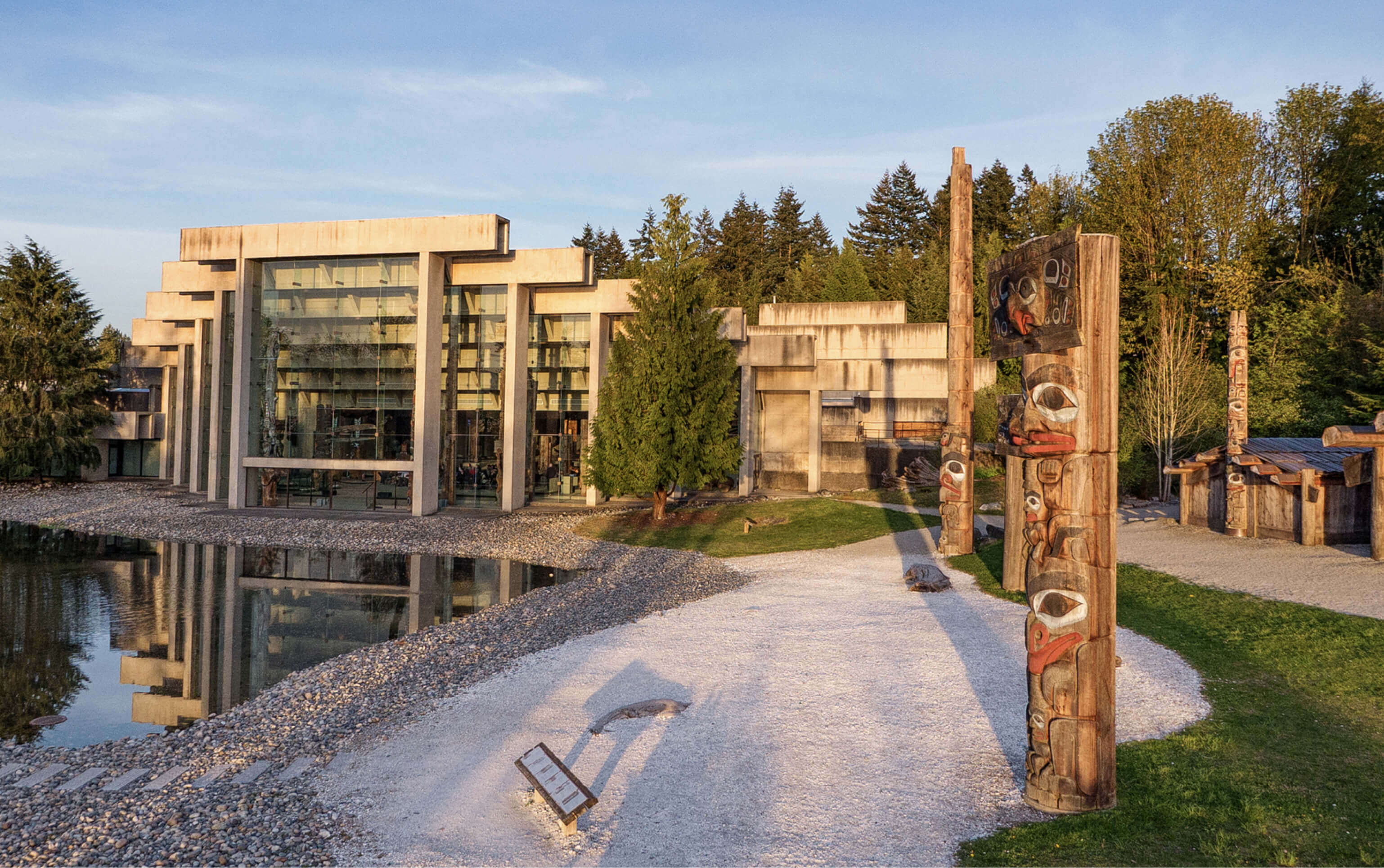 The Museum of Anthropology and totem poles at UBC Vancouver